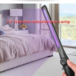Nueva UV Esterilizar desinfección de la lámpara LED del recorrido del hogar de carga USB germicida purificador de aire de la lámpara UVC Luz ecológico