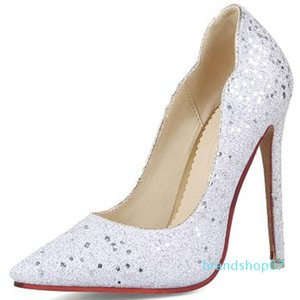 Hot2019 Fine High-heeled With Paillette Will 40-43 Sharp Shoe Wedding Banquet Sexy Women's Shoes 1228