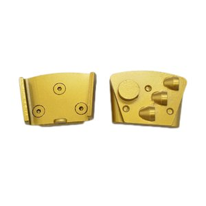Trapezoid PCD Grinding Pads Fix on HTC Quick Lock Blank with Screw Three Dovetail PCD Floor Disc One Round Segment 12PCS