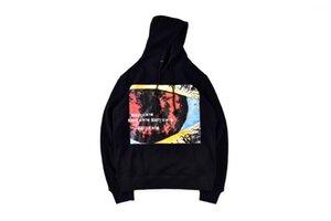 Graffitti Long Sleeve Pullover Streetwear Teenagers Hooded Sweatshirts Hip Hop Mens Designer Hoodies Fashion Rapper Album