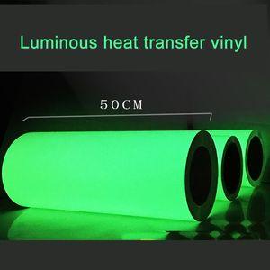 Trasporto libero 1 foglio 25cmx50cm Trasferimento di calore luminoso Vinile Noctilucent Macchina per la macchina per la macchina per la macchina per la stampa di calore Sulla stampa HTV