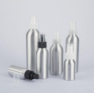 Hızlı teslimat! Alüminyum şişe parfüm için püskürtme şişeleri Doldurulabilir kozmetik ambalaj makyaj kapları 30 ml / 50ml / 100ml / 120ml / 150ml