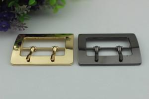 50mm Métal Double Broche Boucle Coat Décor Boucles De Ceinture DIY Sac Bandoulière Réglage Crochet Bagage Matériel Accessoires