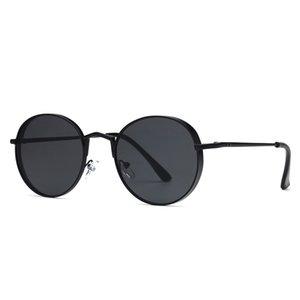 2019 новые круглые металлические морские солнцезащитные очки унисекс модные хипстерские солнцезащитные очки с металлическим каркасом популярные солнцезащитные очки UV400 оптом