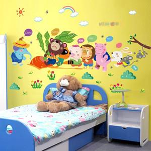 Animal Ravanello del fumetto Combinazione Wall Sticker per bambini Kindergarten camera decorazione della parete Sticker