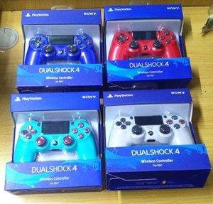 새로운 소매 패키지 PS4 무선 컨트롤러 소니 플레이 스테이션 4 게임 시스템 게임 컨트롤러 게임 조이스틱 (18 개) 색상 공장 품질