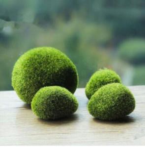 artificial bola musgo falso pedra simulação planta verde decoração DIY para a janela de loja do hotel decoração da parede planta home office