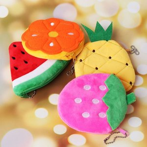 Fruit Slice Small Change Purse Coin Purse Wallet Money Handbag Card Holder Plush Dolls Stuffed Animals & Plush