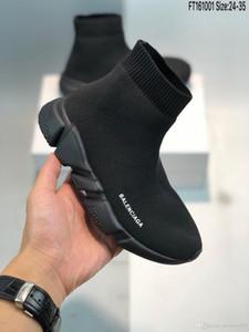 2019 Shoes Moda Bebê Kids Socks Botas Crianças Deslizamento-na Casual Flats Speed Trainer Sneakers Boy Girl alta-Top Running Shoes
