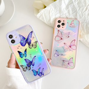 Fashion Bling Butterfly Case for iPhone 11 Pro Max XR 8 7 Soft Colorful Butterflies Protect Cover