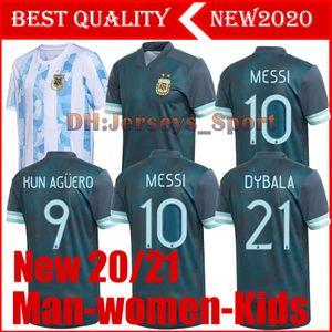 2020 Copa America ARGENTINIEN Fußball-Trikots von Messi, HIGUAIN ICARDI KUN AGUERO 19 20 Männer Frauen Kinder set camisetas futbol MARADONA FUßBALL TRIKOT