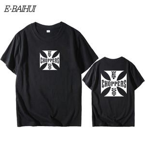 E-Baihui Fashion T shirt da uomo West Coast Choppers Stampa T-shirt O-Collo T-shirt in cotone breve estate del manicotto supera i T W0158
