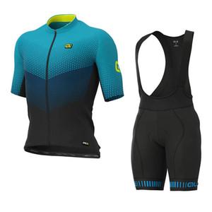 2020 ALE squadra Abbigliamento Ciclismo Set MTB camicia bib Shorts Vestito Vestiti Della Bicicletta Tour de France Quick-Dry Mens Bike breve Maillot Culotte Y20041
