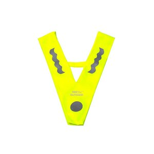 Reflective Vest 8-10 Years Old Children High Visibility V Shape Sleeveless Jacket On For Night Outdoor Sports Running Cycling