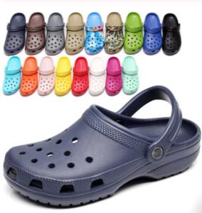 2020 Beleg auf beiläufige Garten Clogs Wasserdichte Schuhe Frauen klassische Nursing Clogs Krankenhaus Frauen Arbeit Medical Sandalen