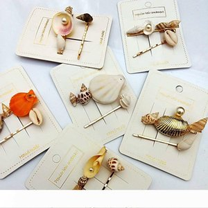 Women Hairpins Hair Clips Pearl Seashell Bobby Pins Side Bangs Clips Barrettes Headwear Ladies Girls Fashion Hair Tool Accessories Jewelry