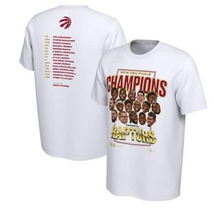 Yeni Raptors 2019 Şampiyonası Kısa Kollu T-Shirt Kazanan T-shirt Basketbol Eğitim Kısa Kollu T-shirt ücretsiz kargo H-5