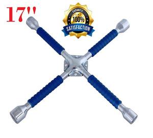 "17"" 4 Way Lug Kreuzschlüssel AntiSlip Automobilreparatur-Reifen-Rad-Torque Tool Universal Car Repair Tools"