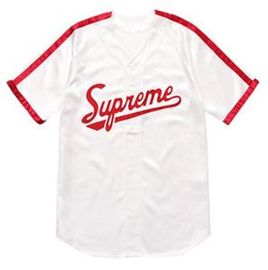 2019 الاتجاه الجديد عارضة بيضاء الكلاسيكية الرياضية الأمريكية البيسبول الرجال قصيرة الأكمام مخيط جيرسي جيد كانليتي