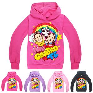 ME CONTRO TE 인쇄 키즈 후드 봄과 가을 4 색 6-14톤 어린이 여자 풀오버 후드 스웨터 아이 디자이너 옷 SS301