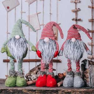 Decorazioni di Natale con le gambe lunghe svedese di Santa Gnome bambola peluche dell'ornamento giocattoli fatti a mano Casa Kids Party regalo XD22125