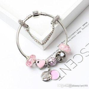 Hotyou 2017 Pay4U 2018 Pay4U frete grátis quente New Magnolia bracelete frisado para Pandora Pulseira DIY flor de pêssego Beads Jewelry