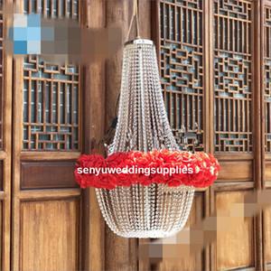 нет света) новый стиль большой современный большой кристалл бисером люстра большой для свадьбы фон / backgroup / свадьба этап украшения senyu0486