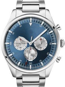 44 millimetri uomini della vigilanza degli uomini d'acciaio Bracciale Quarzo Quadrante Blu Analog Watch 1.513.713
