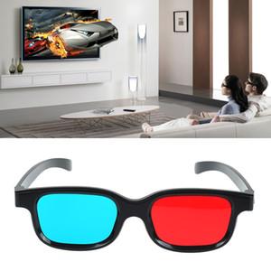 Universal Type 3D-Brille TV Movie Anaglyph Video Rahmen 3D Vision Brille DVD Spiel Glas rote und blaue Farbe