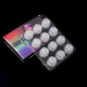 ارتفع شكل متعدد الألوان فلاش مكعبات الثلج مضيئة LED مكعبات الثلج الخفيفة مهرجان فلاش حفل زفاف عيد الميلاد الديكور تغيير لون