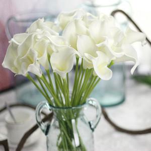 11pcs / lot tacto verdadero flores artificiales flores decorativas de la boda de la cala falso fiesta de la boda Flores decoración de los accesorios