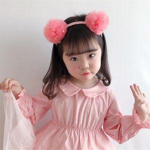 Children Girl Kids Cute Hairbands Headbands Solid Yarn Ball Ears Princess Fashion Korean Head Wear Accessories Birthday-SWD-W19