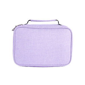 Large Capacity With Handle Organizer Pencil Case 72 Slots Holder Solid Multifunctional Stationery Pen Jewelry Zipper Student