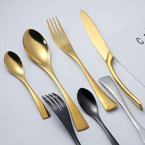 Acheteur Étoile élégant Set Vaisselle Couverts Couverts en acier inoxydable 304 Ustensiles de cuisine Vaisselle Inclure couteau fourchette cuillère 18/10