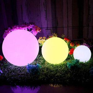 7 Cor RGB LED Flutuante Bola Mágica Levou Iluminado Piscina Esfera Luz IP68 Mobília Ao Ar Livre Bar Candeeiros De Mesa Com Remoto