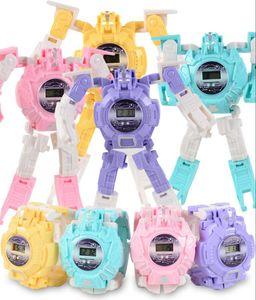 Toy watch children's electronic cartoon deformation watch deformation robot watch toy gift hot selling