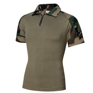 Camicie Uomo Estate camuffamento tattico nuove camice Tactical Paintball Maschio manica corta in cotone Tee shirts Hunt Abbigliamento