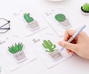 Sevimli Cactus Memo Pad Yapışkan Not Sticker Memo Kitap Not kağıdı N Çıkartma Kırtasiye Ofis Aksesuarları Okul Malzemeleri