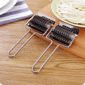 caliente tallarines del acero inoxidable del rodillo del enrejado Chalota cortador pasta de espaguetis Pasta máquina fabricante de la pasta de pasteles de la prensa Manual de Herramientas T2I5591