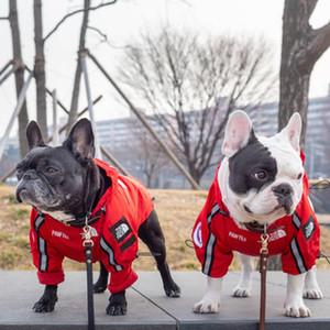 plumifero ABD Bayrağı Rüzgarlık Ceket Amerikan Bayrağı Köpek Yüz Coat Sonbahar Kış Sup Kuzey Giyim trençkot yazdır