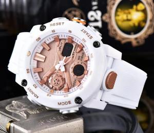 SHOC Marque Montres Homme Style caoutchouc de montre-bracelet multifonction GA 02