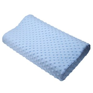 Wholesale- Memory foam pillow care new 3 colors Orthopedic Latex Neck Pillow Fiber Slow Rebound Memory Foam Pillow Cervical Therapy