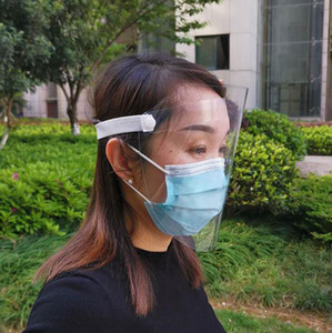 Face Shield Clear PET Reusable Transparent Full Face Shield Foldable Protective Anti Fog Protective Mask OOA7993