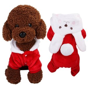 Red Cute Dog Cat Puppy Clothes Chihuahua Clothing Jacket for Small Medium Dogs Soft Fleece Winter Pet Cat Costume