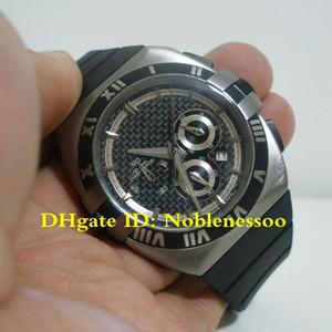 Hot Mens Double Eagle cadran noir Montre chronographe à quartz avec 121.92.35.50.01.001 NEW Montres Élastique Sport Hommes