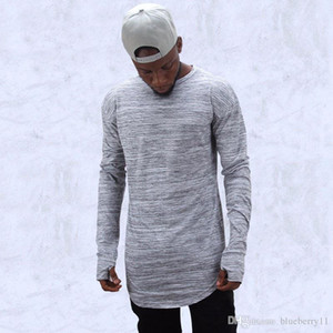 fashion t shirts extend hip hop street T-shirt men long sleeve oversize design hold hand free shippi