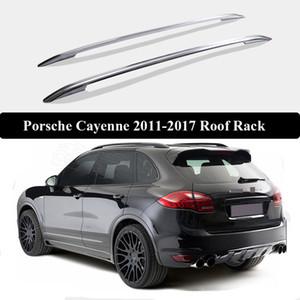 Para Porsche Cayenne 2011-2017 Roof Rack Rails Bar bagagem portador Bares topo da liga Racks Rail caixas de alumínio 3m colar estilo