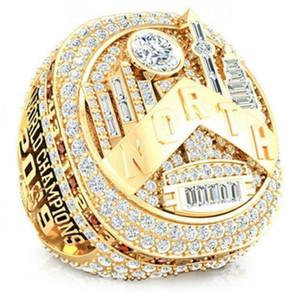 2019 gros Toronto Raptors saison 2018-2019 ring Championnat Fan Hommes Promotion cadeau en gros Drop Shipping taille 8-14