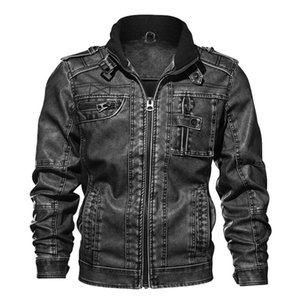 Men's Fur & Faux 2021 Male Coats Brand Clothing 7XL PU Jacket Leather Coat Autumn Slim Fit Motorcycle Jackets