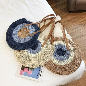 Borse per le donne 2020 spalla Estate rotonda paglia Bag Bohemian tessuti Handmade Beach Tote Bag di lusso Donne Borse Designer